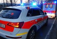 Mit Zündapp in Seat gekracht - Fahrer verletzt, Krankenhaus