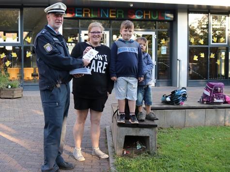 Die Polizei kontrollierte zum Schulanfang vermehrt die Schulwege.