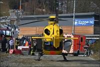 An der Talstation des Slalomhangs gab es am Vormittag einen schweren Unfall.
