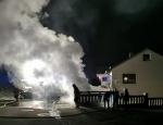 Die Feuerwehr Roda wurde am Freitag zu einem Mülltonnenbrand alarmiert.
