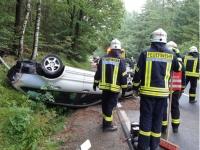 Unfall auf der Bundesstraße 251 - das Fahrzeug war nicht zugelassen