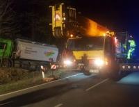Die Bundesstraße 251 musste am Montag für ca. 1 Stunde gesperrt werden.