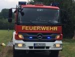 Einsatz der Freiwilligen Feuerwehr Frankenberg am 12. Juli an der B 252