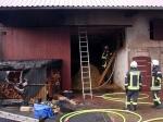 In diesem Stall in Röddenau brannte es am Mittwochmorgen.