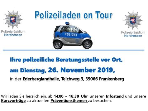 In Frankenberg lädt die Polizei am 26. November ein.