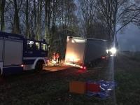 Das THW wurde am Montagabend zu einer Bergung außerhalb von Korbach alarmiert.