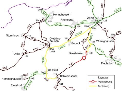 Diemelsee: Die K 67 und die K 73 werden erneuert