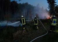 90 Einsatzkräfte waren bei Essentho wegen eines Flächenbrandes im Einsatz.