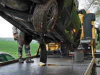 Ein Audi Q5 wurde am 24. Oktober bei einem Alleinunfall zerstört.