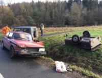 Am 27. Dezember ereignete sich ein Unfall auf der Bundestraße 252 zwischen Ederbringhausen und Viermünden.