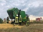 Eine Rundballenpresse musste am 14. Juli in der Feldgemarkung Kohlgrund gelöscht werden.