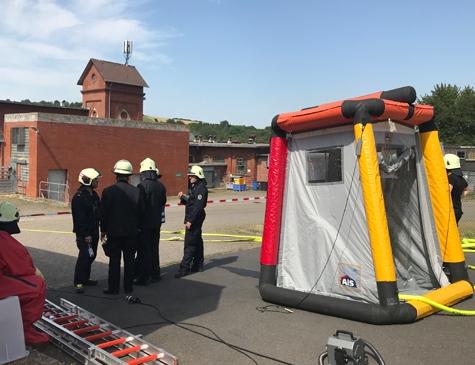 ABC-Alarm in Bad Wildungen - der Einsatz dauert an.