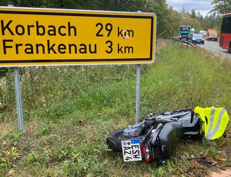 Ein Unfall auf der Bundesstraße 253 ereignete sich am 9. September 2020.