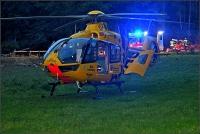 Einer der Schwerverletzten wurde mit dem Rettungshubschrauber in eine Siegener Klinik geflogen.