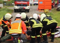Im Rahmen der Herbstabschlussprüfung konnten die Kameradinnen und Kameraden der Feuerwehr und die Rettungskräfte ihr Können auf die Probe stellen.
