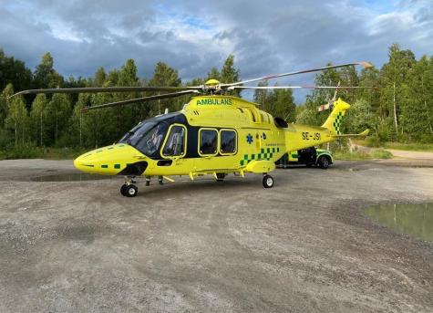 Ein Rettungshubschrauber landete am Donnerstag bei Ytterhogdal.