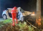 Ein schwerer Verkehrsunfall ereignete sich auf der Bundesstraße 252 zwischen Herzhausen und Frankenberg am 8. August 2020.