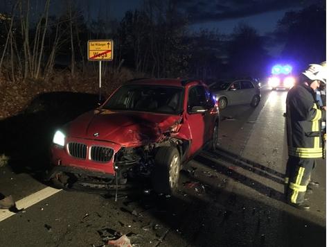 Am 20. November ereignete sich ein Verkehrsunfall bei Wega.