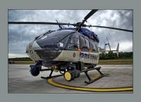 Der Polizeihubschrauber IBIS 2 ausgerüstet mit Suchscheinwerfer und Wärmebildkamera wurde am 28. August angefordert.