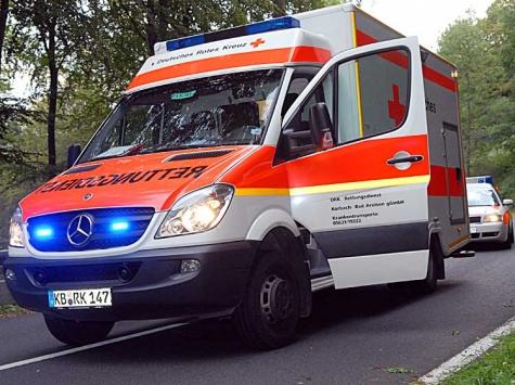 Polizei und Retter wurden am 7. Januar in die Bahnhofstraße gerufen