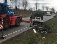 Ein Alleinunfall ereignete sich am 12. März auf der B 252 bei Mengeringhausen - wie durch ein Wunder wurde niemand verletzt.