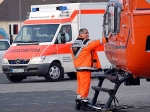 Mit schweren Verletzungen kam eine Frau aus Kreuztal mit dem RTH ins Krankenhaus nach Marburg.