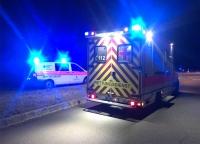 Mit einem RTW musste die 32-Jährige ins Krankenhaus transportiert werden.