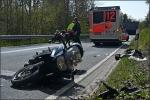 Die 56-jährige Motorradfahrerin kam schwer verletzt ins Krankenhaus.