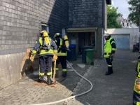 Die Briloner Wehr wurde am Samstag zu einem Brandeinsatz alarmiert.