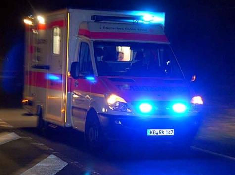 Nächtlicher Einsatz von Polizei, Rettungsdienst und Notarzt am 30. März in Gemünden.