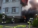 Zu einem Brand in Kassel-Helleböhn rückte die Feuerwehr am 23. Juni aus.