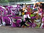 Eine Turnhalle in Frankenberg wurde mit Farbe beschmiert - die Polizei soll den Fall klären.