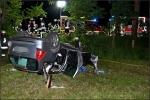 Fahrer und Beifahrer wurden bei dem Unfall schwer, aber nicht lebensbedrohlich verletzt.