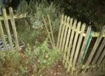 Ein Gartenzaun in Friedrichshausen wurde am 3. Oktober beschädigt.