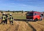 Die Feuerwehr aus Gemünden (Wohra) war am 7. August an der Kreisstraße 109 zwischen Ellnrode und Herbelhausen im Einsatz.