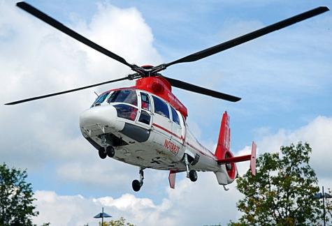Ein Rettungshubschrauber wurde am 22. September angefordert.