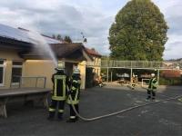 Eine Großübung absolvierten die Burgwalder Wehren am Samstag in Bottendorf.