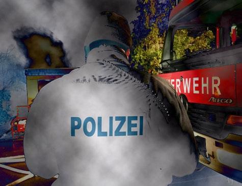 Feuerwehren aus Burgwald, eine Polizeistreife und ein Rettungsteam rückten am 15. Dezember nach Ernsthausen aus.
