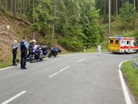 Ein Alleinunfall ereignete sich am 5. Juli 2020 auf der Kreisstraße 126 zwischen Frankenberg und Rengershausen.
