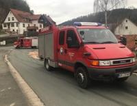 Soldaten der Burgwaldkaserne waren neben Kräften der Feuerwehr am 26. März auf der K 85 im Einsatz