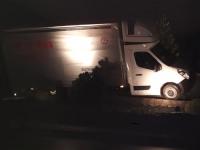 Unaufmerksamkeit führte am 9. Januar zu einem Alleinunfall auf der Bundesstraße 253 bei Allendorf