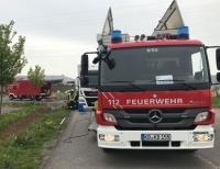 Am 8. Mai 2019 rückte die Korbacher Wehr in die Mauserstraße aus, um eine Ölspur abzustreuen und Umweltschäden zu verhindern