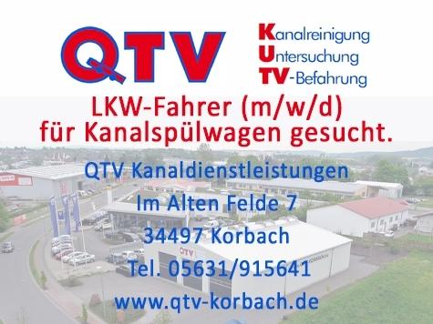 Die QTV Kanaldienstleistungs GmbH sucht Verstärkung.