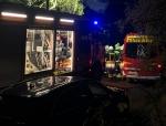 In Bömighausen brannte eine Sauna - die Feuerwehr war schnell zur Stelle.