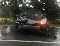 Am Nachmittag des 12. Juli 2019 kam der Fahrer mit seinem im Landkreis Waldeck-Frankenberg zugelassenen Porsche ins Schleudern und krachte in die Leitplanke.