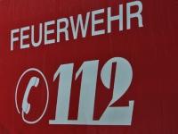 Die Feuerwehr in Haubern rettete am Donnerstag das Osterfeuer.