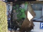 Am Mittwoch griff ein Mülltonnenbrand auf eine Hausfassade über.