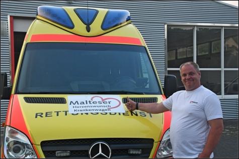 Michael Hermann ist mit seinen Kameraden bereit, todkranken Menschen den letzten Herzenswunsch zu erfüllen. Mehrmals ist der Krankenwagen für die Herzen bereits ausgerückt.