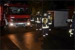 Unter schwerem Atemschutz konnte die Feuerwehr schnell Entwarnung geben.