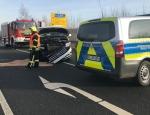 Am 28. Dezember ereignete sich ein Verkehrsunfall auf der B 252 bei Diemelstadt.